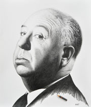 Alfred Hitchcock drawing