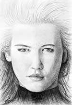CLAUDIA SCHIFFER drawing