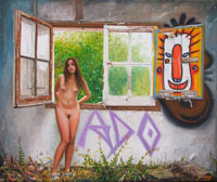Erato nude with window